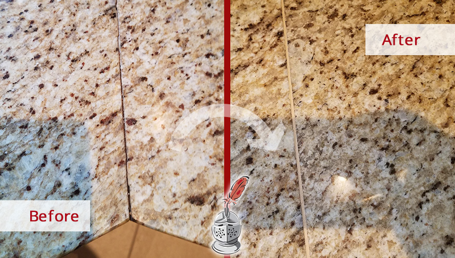 Before And After Picture Of A Stone Sealing Service In St Johns, FL